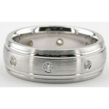 14K Gold 7mm Diamond Wedding Bands Rings 087114KS400W