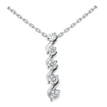 Platinum 950 Diamond Journey Pendant 5 Stone 1.07 ctw. JPD1760PLT