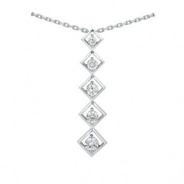 14k Gold Diamond Journey Pendant 5 Stone 1.25 ctw. JPD177814K