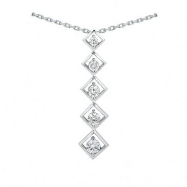 Platinum 950 Diamond Journey Pendant 5 Stone 1.25 ctw. JPD1778PLT