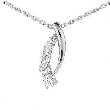 Platinum 950 Diamond Journey Pendant 5 Stone 1.25 ctw. JPD2055PLT