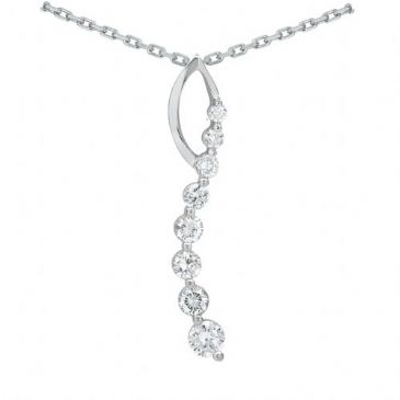 Platinum 950 Diamond Journey Pendant 8 Stone 1.50 ctw. JPD2094PLT