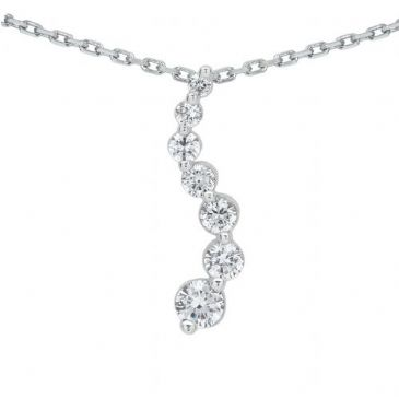 Platinum 950 Diamond Journey Pendant 7 Stone 1.45 ctw. JPD2109PLT