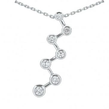 Platinum 950 Diamond Journey Pendant 7 Stone 1.0 ctw. JPD2144PLT