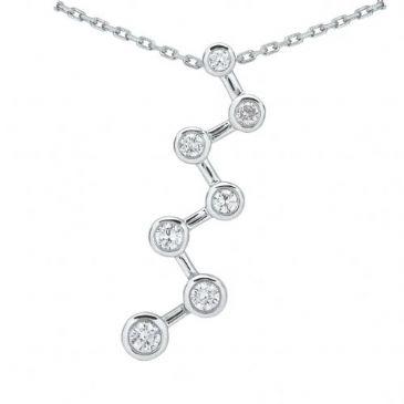 Platinum 950 Diamond Journey Pendant 7 Stone 1.0 ctw. JPD2144PLT