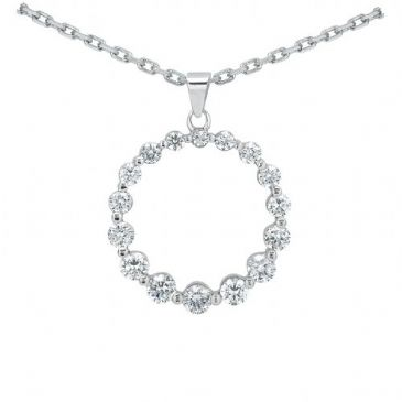 Platinum 950 Diamond Journey Pendant 16 Stone 1.26 ctw. JPD2161PLT