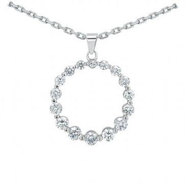 Platinum 950 Diamond Journey Pendant 16 Stone 1.26 ctw. JPD2161PLT