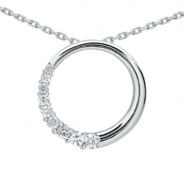 Platinum 950 Diamond Journey Pendant 9 Stone 0.75 ctw. JPD2166PLT