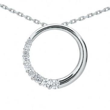Platinum 950 Diamond Journey Pendant 9 Stone 0.75 ctw. JPD2166PLT