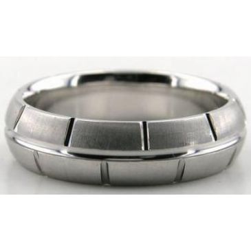 Platinum 950 6mm Diamond Cut Wedding Band 611