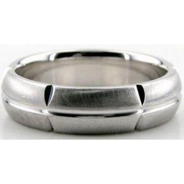 Platinum 950 6mm Diamond Cut Wedding Band 612
