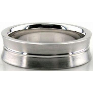 Platinum 950 6.5mm Diamond Cut Wedding Band 670