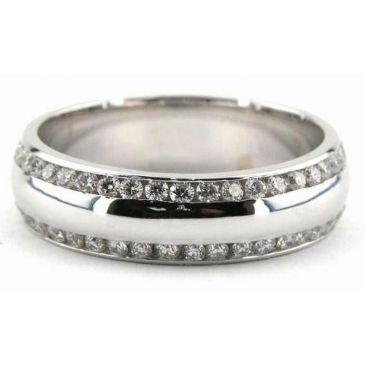 Platinum 950 6mm Diamond Wedding Bands Rings 0863