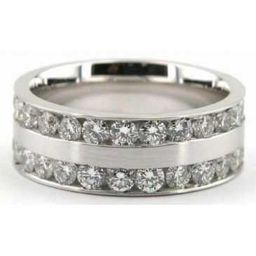 Platinum 950 7mm Diamond Wedding Bands Rings 0901