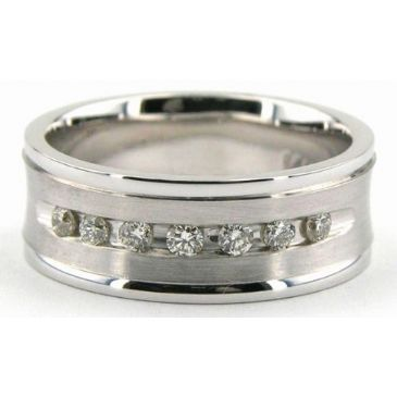 14k Gold 7mm Diamond Wedding Bands Rings 1231