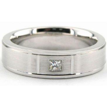 950 Platinum 6mm Diamond Wedding Bands Rings 1961