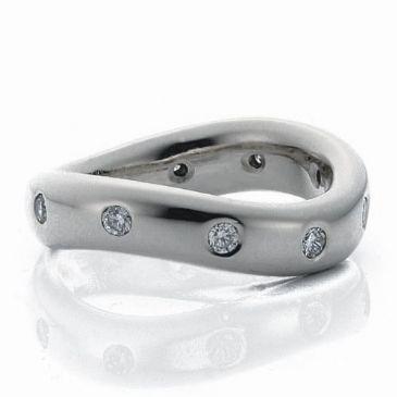 14k White Gold 5mm Diamond Wedding Bands Rings 1964