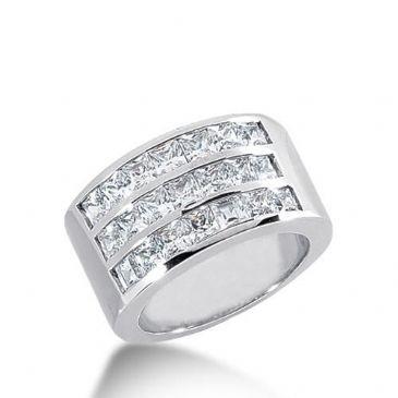 950 Platinum Diamond Anniversary Wedding Ring 21 Princess Cut Diamonds 2.94ctw 141WR286PLT