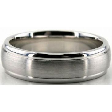 Platinum 950 6mm Diamond Cut Wedding Band 698
