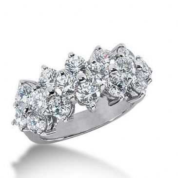 950 Platinum Diamond Anniversary Wedding Ring 16 Round Brilliant Diamonds 3.20ctw 158WR306PLT