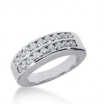 950 Platinum Diamond Anniversary Wedding Ring 18 Round Brilliant Diamonds 0.50ctw 169WR1615PLT