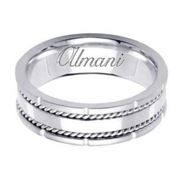 18k Gold 7mm Handmade Wedding Ring 160 Almani