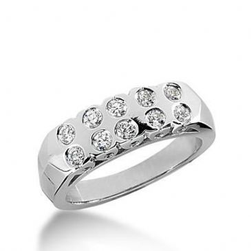 950 Platinum Diamond Anniversary Wedding Ring 10 Round Brilliant Diamonds 0.50ctw 173WR169PLT