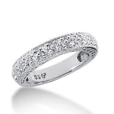 950 Platinum Diamond Anniversary Wedding Ring 11 Round Brilliant Diamonds 0.55ctw 175WR1452PLT