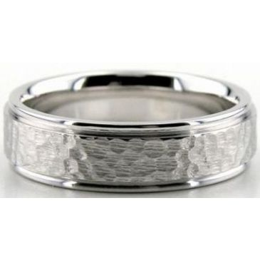 Platinum 950 6mm Diamond Cut Wedding Band 634