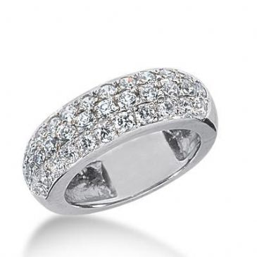 18K Gold Diamond Anniversary Wedding Ring 34 Round Brilliant Diamonds 1.36ctw 179WR154118K