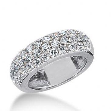 950 Platinum Diamond Anniversary Wedding Ring 34 Round Brilliant Diamonds 1.36ctw 179WR1541PLT
