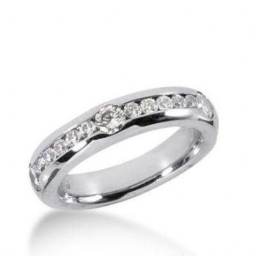 18K Gold Diamond Anniversary Wedding Ring 13 Round Brilliant Diamonds 0.75ctw 188WR122718K