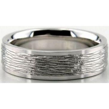 950 Platinum  6mm Diamond Cut Wedding Band 635