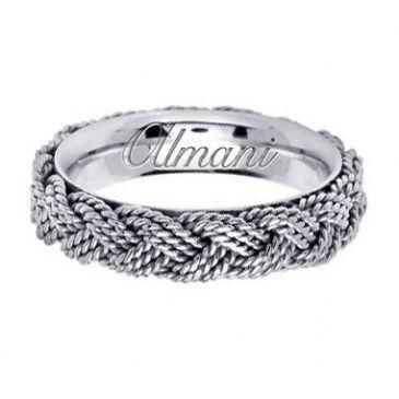 14K Gold 5.5mm Handmade Wedding Ring 120 Almani