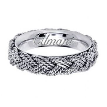 950 Platinum 5.5mm Handmade Wedding Ring 120 Almani