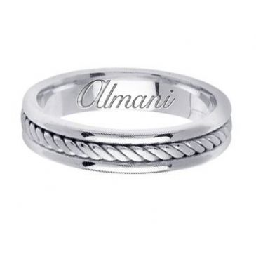 14K Gold 5mm Handmade Wedding Ring 121 Almani