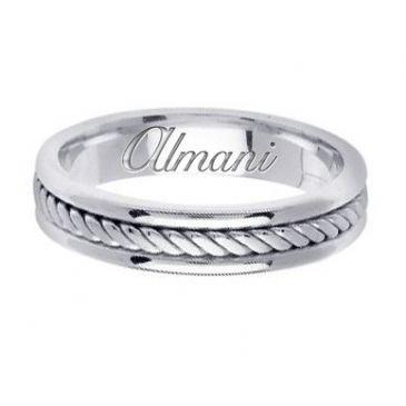 950 Platinum 5mm Handmade Wedding Ring 121 Almani