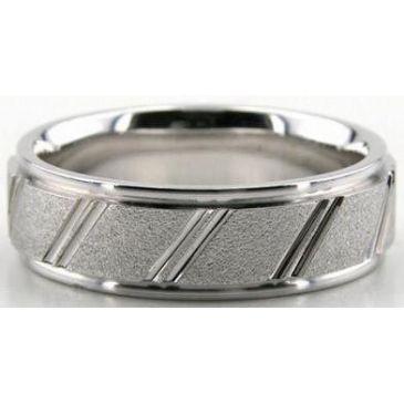 Platinum 950 6.5mm Diamond Cut Wedding Band 615