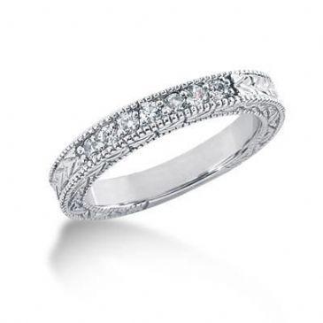 18K Gold Diamond Anniversary Wedding Ring 7 Round Brilliant Diamonds 0.21ctw 202WR52418K