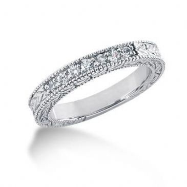 950 Platinum Diamond Anniversary Wedding Ring 7 Round Brilliant Diamonds 0.21ctw 202WR524PLT