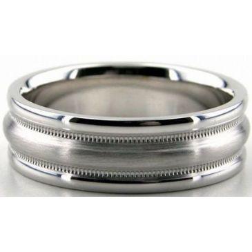 Platinum 950 6mm Diamond Cut Wedding Band 651