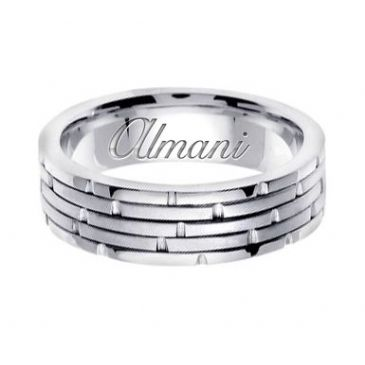 14K Gold 6.5mm Handmade Wedding Ring 126 Almani