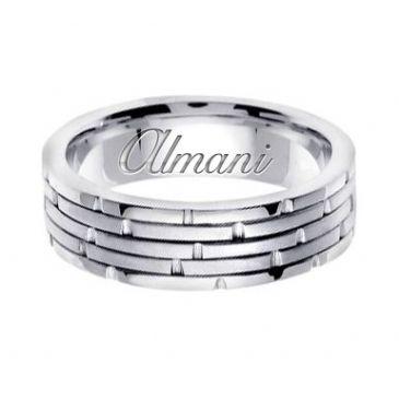 950 Platinum 6.5mm Handmade Wedding Ring 126 Almani