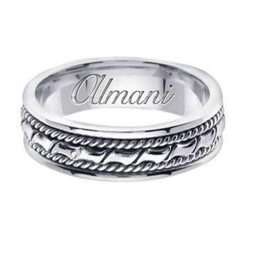 14K Gold 6mm Handmade Wedding Ring 131 Almani
