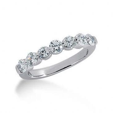 950 Platinum Diamond Anniversary Wedding Ring 7 Round Brilliant Diamonds 1.05ctw 208WR2237PLT