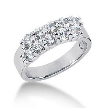 950 Platinum Diamond Anniversary Wedding Ring 10 Round Brilliant Diamonds 1.50ctw 212WR2159PLT
