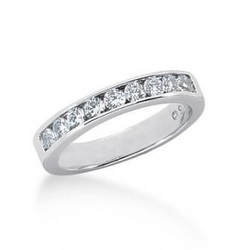 18K Gold Diamond Wedding Ring 9 Round Brilliant Diamonds 0.45ctw 213WR12318K