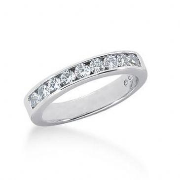 18K Gold Diamond Wedding Ring 9 Round Brilliant Diamonds 0.45ctw 213WR12318K