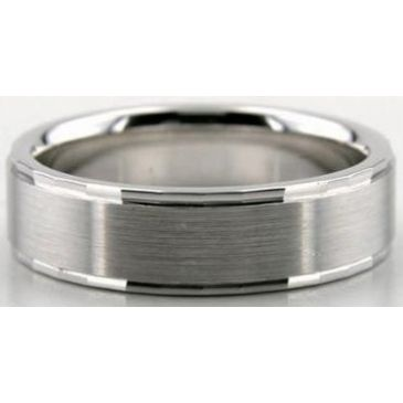 Platinum 950 6mm Diamond Cut Wedding Band 627