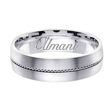 18k Gold 6mm Handmade Wedding Ring 134 Almani